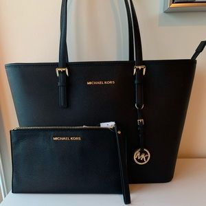 Michael Kors Jet Set Tote and Wristlet.